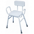 Malling Perching Stool With Arms And Padded Back