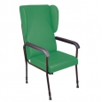Chelsfield Height Adjustable Chair (Green), Black Frame