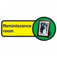 Reminiscence Room sign - 480mm x 210mm