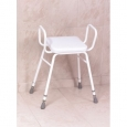 Malvern Vinyl Seat Perching Stool - Adjustable Height With Armrests