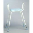 Polyurethane Moulded Shower Stools - Adjustable Height with Armrests