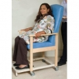 Shetland Porter Chair - Drop Arm Option - Mundial Sky Blue