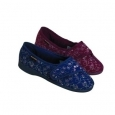 Ladies Slipper - Bluebell Burgundy - Size 4