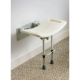 Drop Down Shower Seat with Legs in White