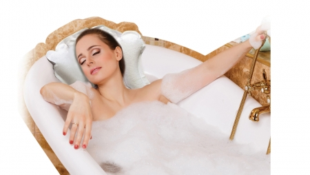 Terry Towelling Inflatable Bath Cushion