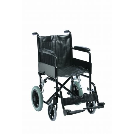 "Budget Steel Transit Wheelchair with 18"" seat"