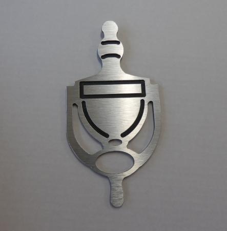 Door Knocker: Silver - TWIN PACK