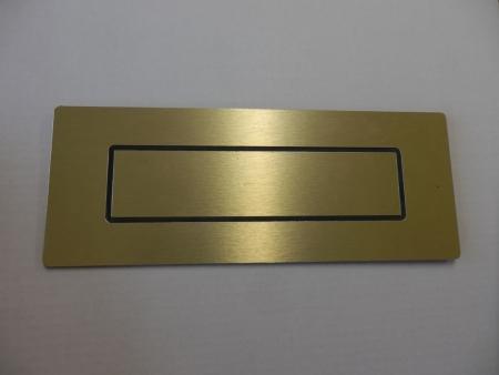 Door Letterbox: Gold