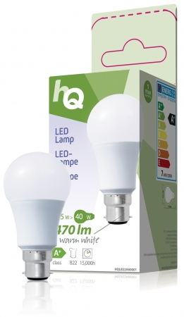 Standard Bayonet (B22) A60 ECO LED Frosted 6.5W (40W equivalent)
