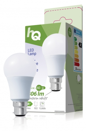 Standard Bayonet (B22) A60 ECO LED Frosted 9.5W (60W equivalent)