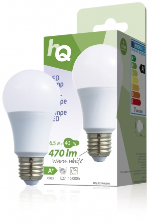 Large Edison Screw E27 A60 ECO LED Frosted 6.5W (40W equivalent)