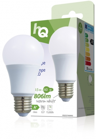 Large Edison Screw E27 A60 ECO LED Frosted 9.5W (60W equivalent)