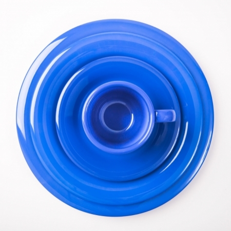 6 Wide Rim Plates - Blue - Different sizes available