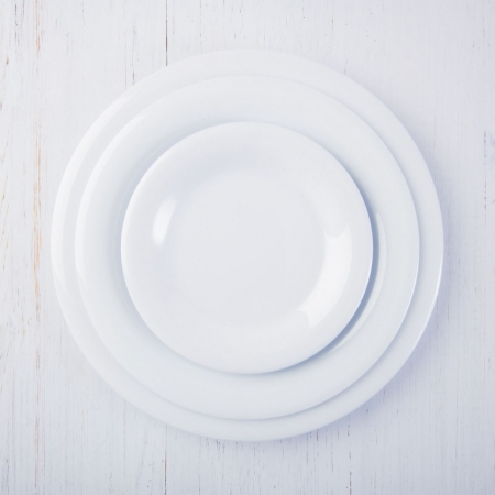 6 Wide Rim Plates - White - Different sizes available