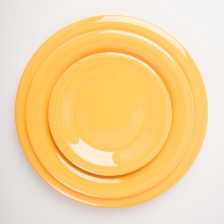 6 Wide Rim Plates - Yellow - Different sizes available