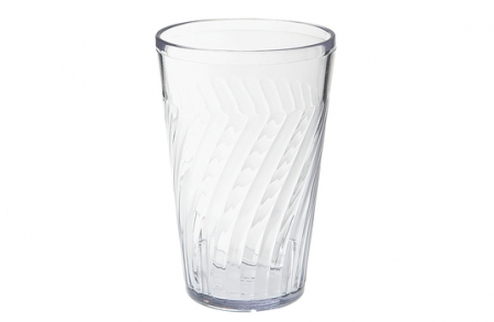 6 Plastic tumblers: Clear. Different sizes available