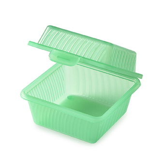 6 Square 'snack box' containers