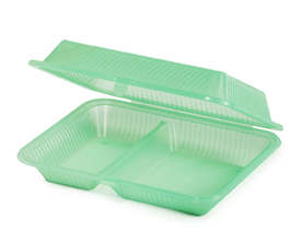 6 Two compartment 'snack box' containers