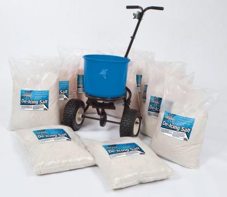 Salt Spreader Kit: 10 x 25kg Bags with Salt Spreader