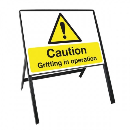 Sign Kit: Caution Gritting in operation