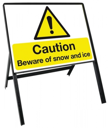 Sign Kit: Caution Beware of snow and ice