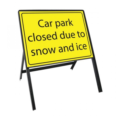 Sign Kit: Car Park closed due to snow and ice