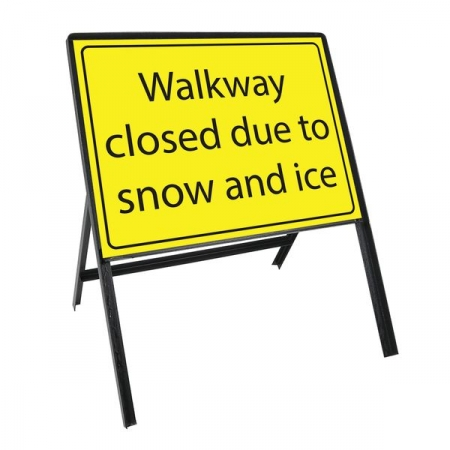 Sign Kit: Walkway closed due to snow and ice