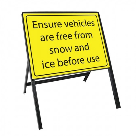 Sign Kit: Ensure vehicles are free from snow and ice before use