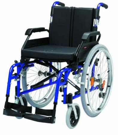 "20"" XS Aluminium Self Propel Wheelchair (Blue)"