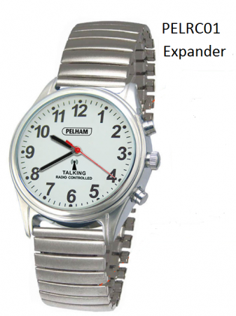 Talking Radio Controlled Watch with Expanding Strap: Large