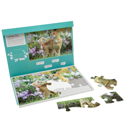 Curious Cat - Dementia Friendly 13 Piece Jigsaw Puzzle