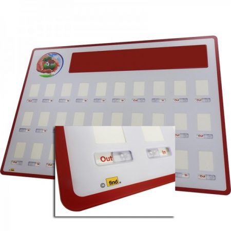 In/Out Staff Board - Available in different sizes