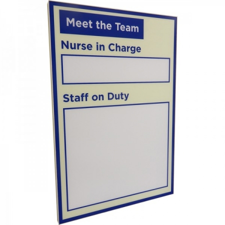 Dry-wipe Staff Board (600mm x 800mm)