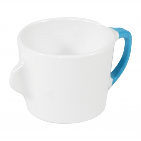 Dalebrook Omni White Cups - Different Coloured Handles Available - 200ml 130x90x70mm - Set of 12
