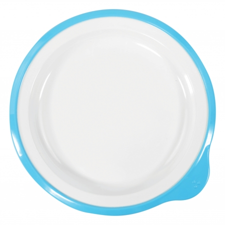 Dalebrook Omni Small Low Plates in White - Different Coloured Rims Available - 180x170x20mm - Set of 12