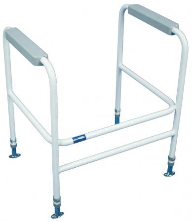 Ashford Height Adjustable Toilet Frame - Floor Fixed - White