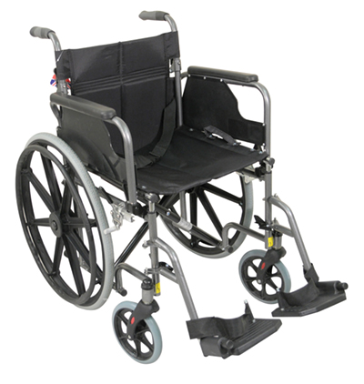 Deluxe Self Propelled Steel Wheelchair - Different Colours Available