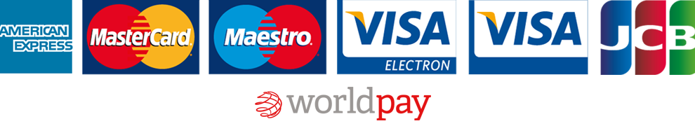 Payment Cards Accepted through WorldPay and PayPal