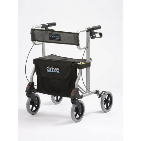 Diamond Aluminium Rollator - Blue, Red or Silver