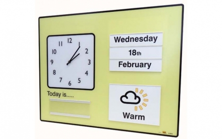 Communal Orientation Board with Analogue Clock