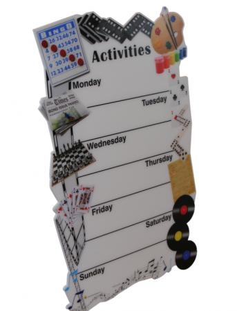 Weekly Activities Board for Care Homes