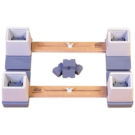 Adjustable Height/Width Linked Bed Raiser for Single Bed