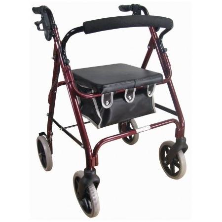 Aidapt Lightweight 4 Wheeled Rollator - Red