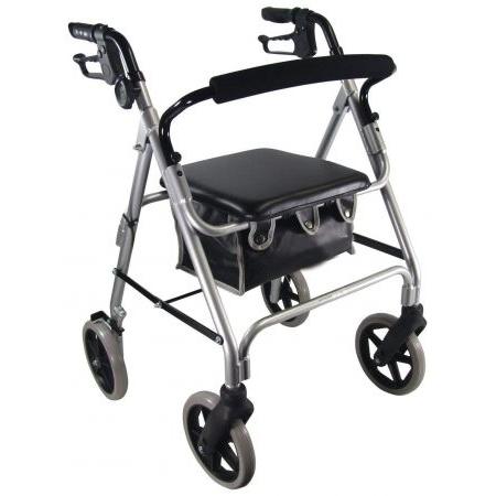 Aidapt Lightweight 4 Wheeled Rollator - Silver