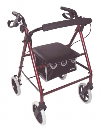 Lightweight Rollator - Red