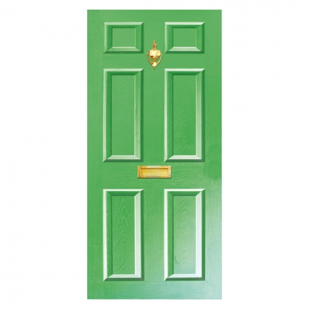 Dementia Friendly Door Vinyl with Letterbox and Knocker. Different colours available