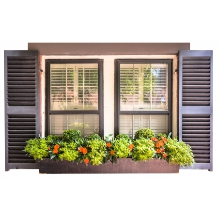 Window Frame Design Vinyl With Shutters 1000 x 1500mm