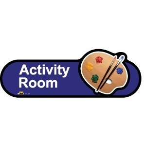 Activity Room sign - 480mm - Blue