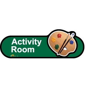 Activity Room sign - 480mm - Green