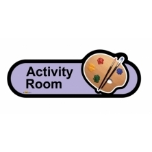 Activity Room sign - 480mm - Lilac